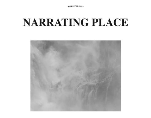 Narrating Place invitation